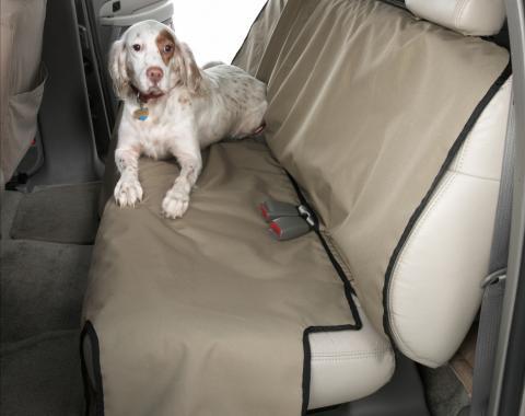 Covercraft Canine Covers Semi-Custom Rear Seat Protector, Polycotton Taupe DE2020TP