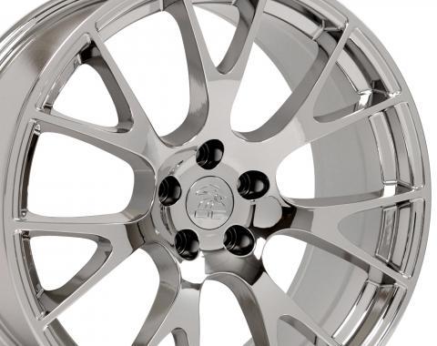 "20"" Fits Dodge Hellcat Wheel Replica - PVD Chrome 20x9"