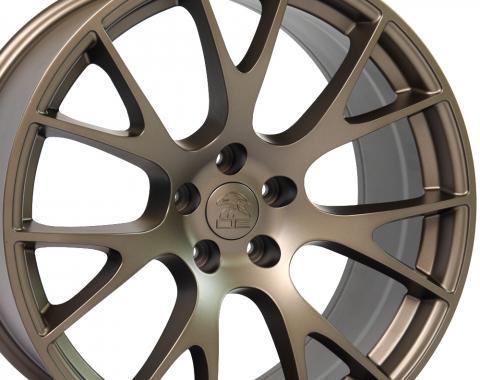 "20"" Fits Dodge Hellcat Wheel Replica - Bronze 20x9"