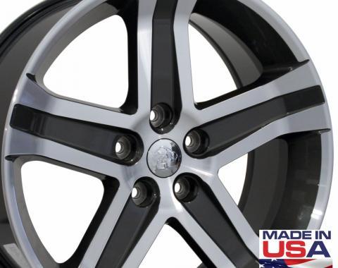 "22"" Fits Dodge - 1500 Wheel - Gunmetal Mach'd Face 22x9"