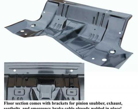 AMD Rear Floor / Under Rear Seat Pan, 68-70 Dodge Plymouth B-Body (Modify to fit 63-67) 420-1468
