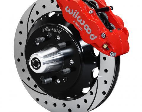 Wilwood Brakes Forged Narrow Superlite 6R Big Brake Front Brake Kit (Hub) 140-15199-DR