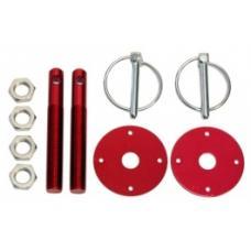 Aluminum Hood Pin Kit, Red