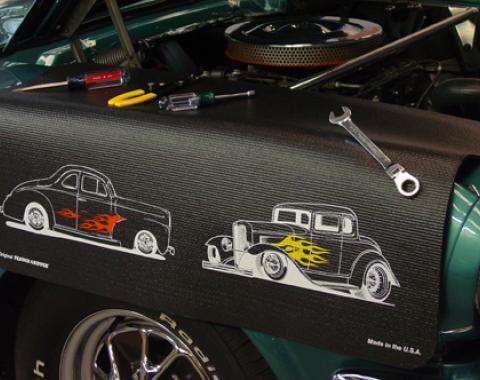 Fender Gripper® Cover, Black with Ford Street Rods