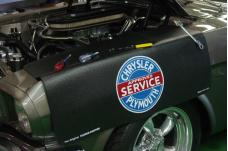Fender Gripper® Cover, Black with Chrysler Plymouth Service Logo