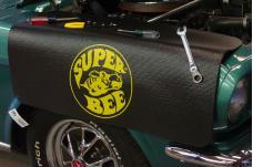 Fender Gripper® Cover, Black with Mopar Super Bee Logo