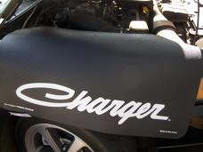 Fender Gripper® Cover, Black with Charger Script