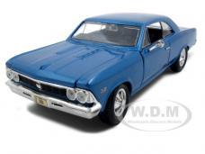 1966 Chevrolet Chevelle SS 396 Blue 1/24 Diecast Model Car