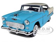 1955 Chevrolet Bel Air Blue with Silver 1/24 Diecast Car