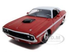 1970 Dodge Challenger R/T Coupe Red 1/24 Diecast Model Car