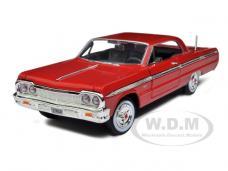 1964 Chevrolet Impala Red 1/24 Diecast Model Car