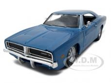 1969 Dodge Charger R/T Hemi Blue 1/25 Diecast Model Car