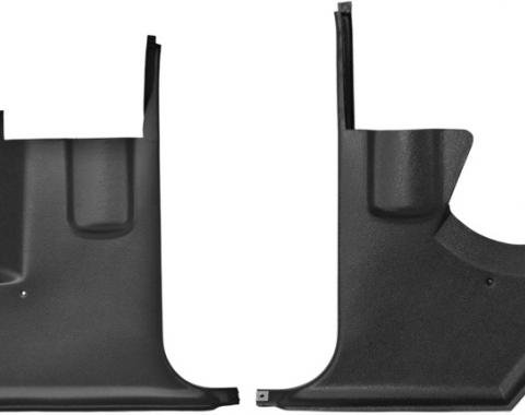 Dashtop Replacement Front Kick Panels Satin Black 97-15243