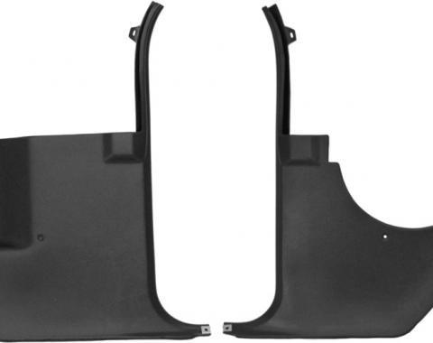 Dashtop Replacement Front Kick Panels Satin Black 975-15243