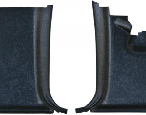 Dashtop Replacement Front Kick Panels Satin Black 968-15243