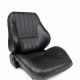 Procar Lowback Rally Seat, Right, Black Leather