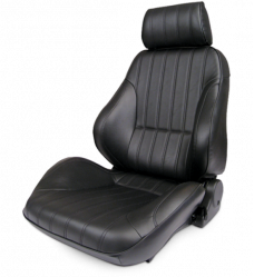 Procar Rally Seat, with Headrest, Left, Black Leather