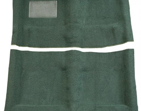 Plymouth Barracuda Automatic without Console Strips Pass Area Loop Carpet, Maroon, 1967-1969