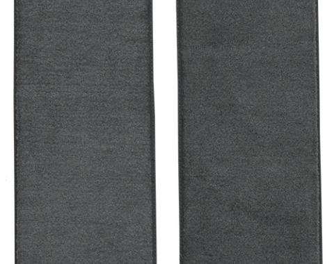 ACC  Dodge D100 Door Panel Inserts with Cardboard 2pc Cutpile Carpet, Dark Gray, 1975-1979