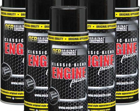OER 1947-62 Medium Gray Classic Blend Engine Paint Case Of 6 16 Oz Cans *K89116