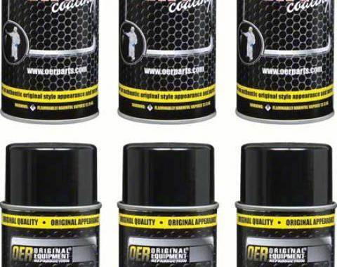 "OER ""Factory Black"" High Gloss Black Engine Paint Case of 6 - 16 Oz Aerosol Cans *K89594"