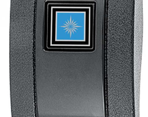 OER 1968-72, Seat Belt Buckle Cover, Standard Interior, with Silver/Blue Starburst Emblem 154663BL