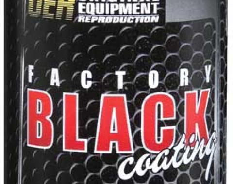 "OER ""Factory Black"" Ultra Flat Black Paint - 12 Ounce Net Weight K89540"