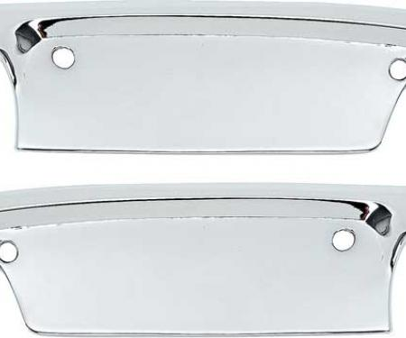 OER 1952-59 Chevrolet, GMC Truck, Outer Door Handle Scuff Plates, Chrome, Pair CX1289