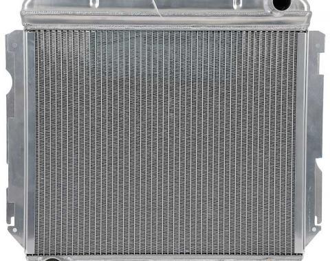 OER 1966-69 Mopar B-Body 426 Hemi Aluminum Desert Cooler Radiator - Manual MB2385S